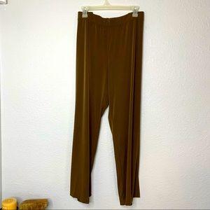 Stretch Brown Knit Pants 2x